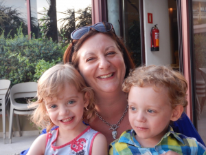 HR180 MD Claire Morley-Jones and children.